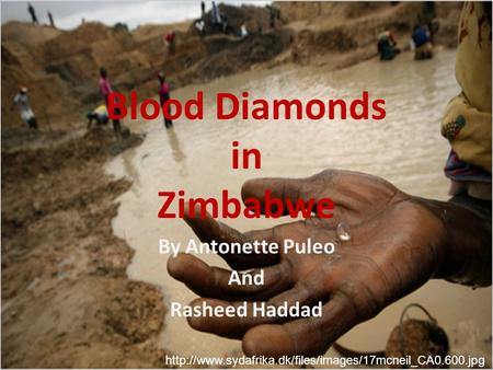Blood Diamonds in Zimbabwe By Antonette Puleo And Rasheed Haddad