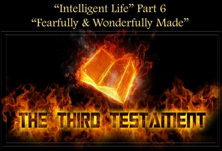 """Intelligent Life"" Part 6 ""Fearfully & Wonderfully Made"""