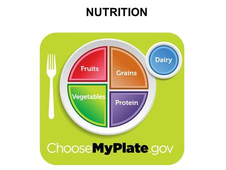 NUTRITION. OBJECTIVES explain how to use the my plate guidance system. identify the names of the five main food groups in my plate. describe recommendations.