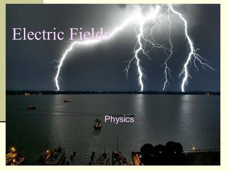 Electric Fields Physics.