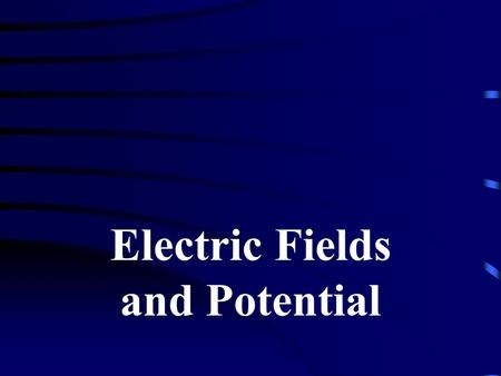 Electric Fields and Potential. Electric field – a force field that fills the space around every electric charge or charges Example: Electron Proton.