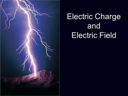 Electric Charge and Electric Field. Write at least three questions that you have about ELECTRICITY.