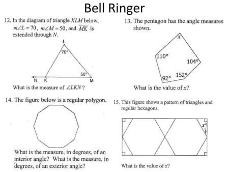 "Bell Ringer. Ratios and Proportions A ratio is a comparison of a number ""a"" and a nonzero number ""b"" using division."