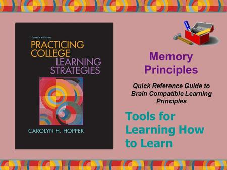 Memory Principles Quick Reference Guide to Brain Compatible Learning Principles Tools for Learning How to Learn.