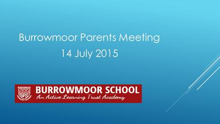 Burrowmoor Parents Meeting 14 July 2015.  Staffing for September  What's happening in the classrooms?  What's happening in the wider school?  Questions.