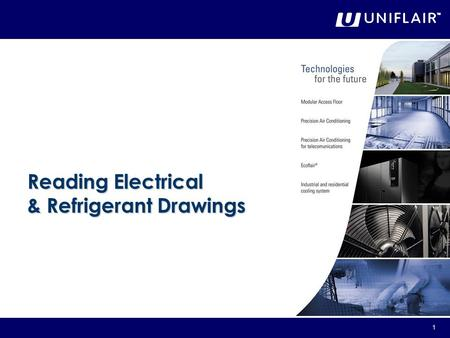 1 Reading Electrical & Refrigerant Drawings. 2 General An electrical drawing shows the components of the circuit as simplified standard symbols, and the.