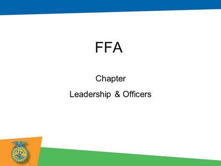 FFA Chapter Leadership & Officers. Chapter Leadership What is leadership? –Definition: Influence –What does influence look like in our chapter? –What.