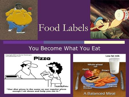 Food Labels You Become What You Eat. Reading Food Labels Serving Size: Given in familiar units and metric or SI units (in parenthesis). All other information.