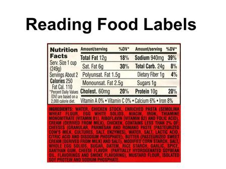 Reading Food Labels. The serving size and amount of servings per container is your real key to knowing how many calories and other nutrients are in the.