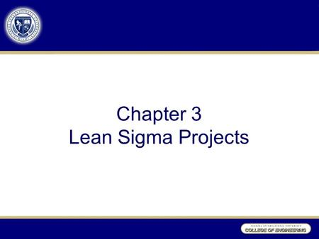 Chapter 3 Lean Sigma Projects. What is the relationship of Six Sigma to Lean Sigma? LEAN Targets process efficiency through waste reductions SIX SIGMA.