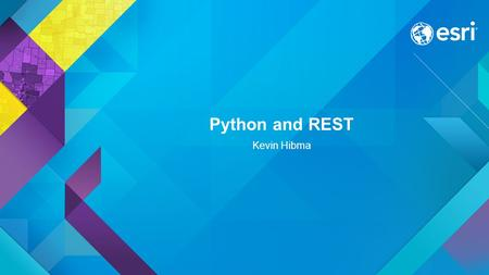 Python and REST Kevin Hibma. What is REST? Why REST? REST stands for Representational State Transfer. (It is sometimes spelled ReST.) It relies on a.