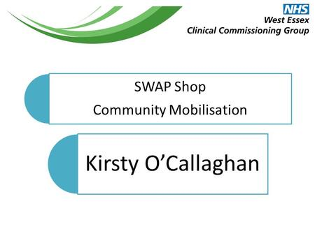 SWAP Shop Community Mobilisation Kirsty O'Callaghan.