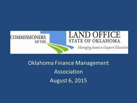 Oklahoma Finance Management Association August 6, 2015.