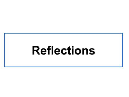 Reflections Objectives Keywords: What letter would you get if you reflected each shape in its corresponding mirror line?