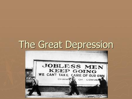 The Great Depression. A Shift in Ideas ► The communist movement met very little support in Canada for many reasons  Belief in democratic principles 