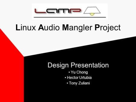 Linux Audio Mangler Project Design Presentation Yu Chong Hector Urtubia Tony Zuliani.