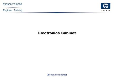 Engineer Training Electronics Cabinet TJ8300 / TJ8500 Electronics Cabinet.