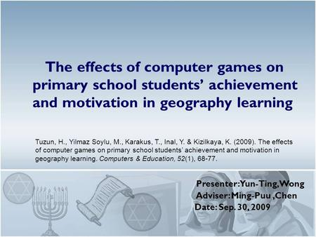 effects of computer games in students The effect of playing online games  playing computer games at work is often discouraged,  we investigated the effects of computer games,.