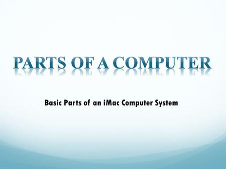 Basic Parts of an iMac Computer System
