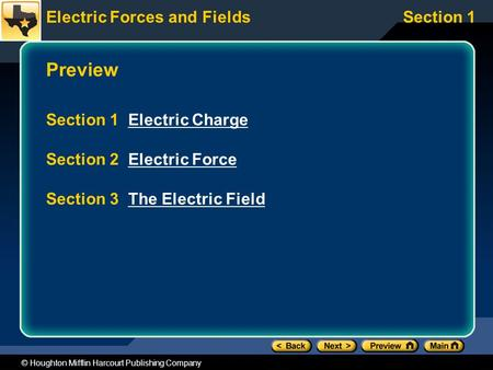 Preview Section 1 Electric Charge Section 2 Electric Force