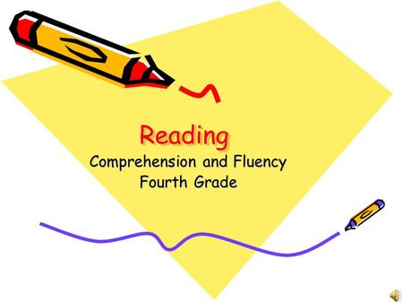 ReadingReading Comprehension and Fluency Fourth Grade.