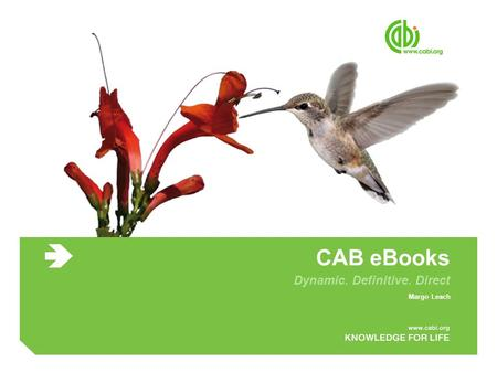 CAB eBooks Dynamic. Definitive. Direct Margo Leach.