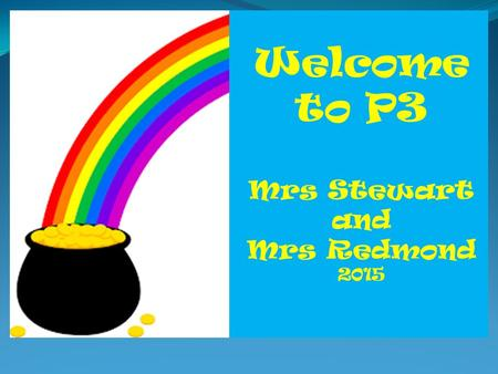 Welcome to P3 Mrs Stewart and Mrs Redmond 2015. Our Expectations In Primary 3, we have been creating a class contract that we created from all the things.