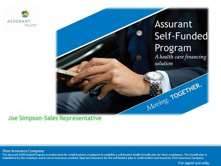 Assurant Self-Funded Program Joe Simpson-Sales Representative