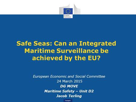 Maritime Safety – Unit D2