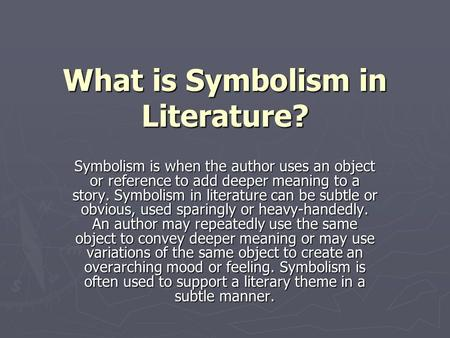 symbol in literature dr husniah sahamid ppt video online  what is symbolism in literature