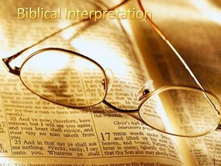 From the 6 ways to interpret the Bible, which way do you naturally read with? Which one would you like to explore more? Why?