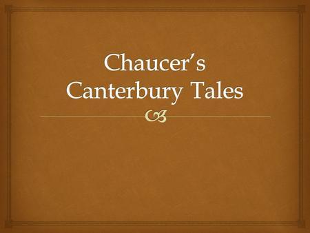 Geoffrey Chaucer's influence on English literature