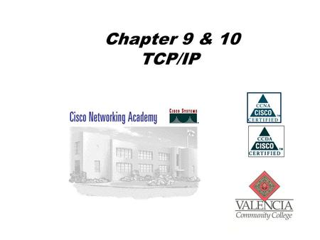 Chapter 9 & 10 TCP/IP. TCP/IP Model Application Transport Internet Internet Access.