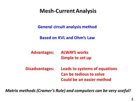 Mesh-Current Analysis