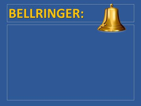 BELLRINGER:. Chapter 8 / Section 2: How Federal Courts Are Organized.