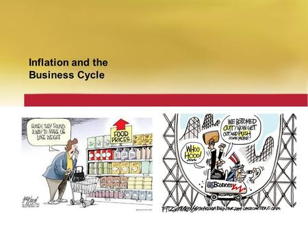 Inflation and the Business Cycle. Chapter Checklist  When you have completed your study of this chapter, you will be able to Explain what the Consumer.
