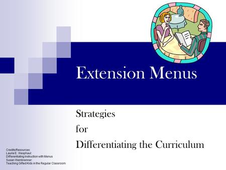 Strategies for Differentiating the Curriculum