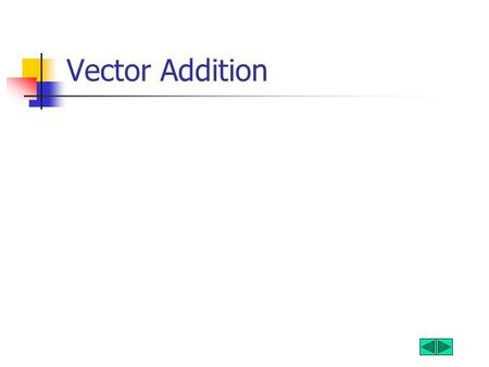 Vector Addition. What is a Vector A vector is a value that has a magnitude and direction Examples Force Velocity Displacement A scalar is a value that.