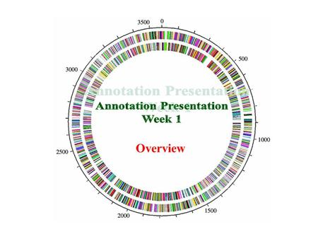 Overview. What is Annotation? Annotation is the process of determining the location and function of all identifiable genes in a genome. Annotation is.