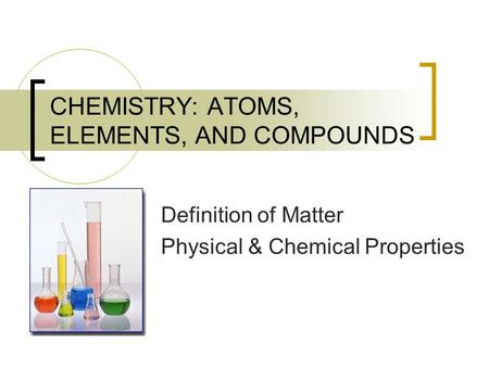 Physical and Chemical Properties. Physical Properties Any ...