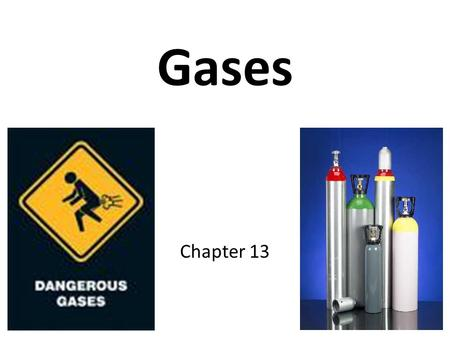 Gases Chapter 13. Kinetic-Molecular Theory of Matter Model for gases Explains why gases behave the way that they do Based on the idea that particles of.