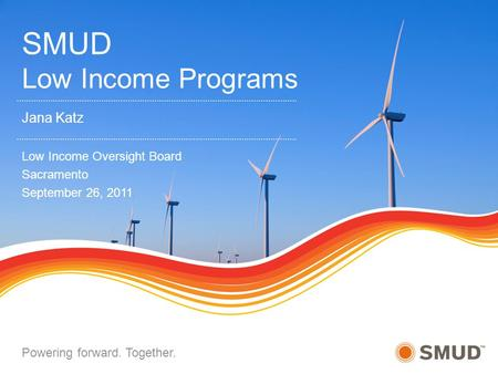 SMUD Low Income Programs
