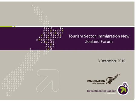 Tourism Sector, Immigration New Zealand Forum 3 December 2010.