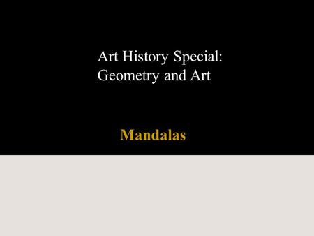 Art History Special: Geometry and Art