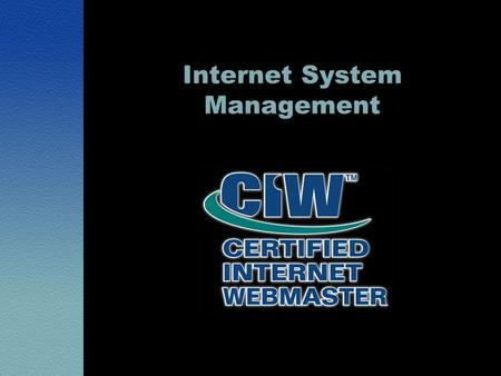 Internet System Management. Lesson 1: IT Systems and Services Overview.