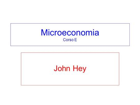 Microeconomia Corso E John Hey. Chapter 7 – what do we know? Individual with given preferences and income m faces prices p 1 and p 2 for two goods:1 and.