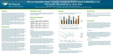 This is a Scientific Poster Template created by Graphicsland & MakeSigns.com Your poster title would go on these lines Author Name, RN 1 ; Author Name,