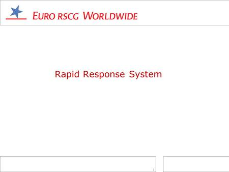 1 Rapid Response System. 2 _Developed to notify account teams when the client was not happy with one or more service areas, such as cost management or.