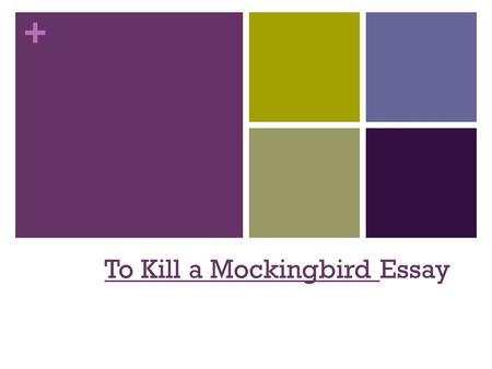 + To Kill a Mockingbird Essay. + Introduction Attention-getter: Make sure the first sentence of your introduction answers these questions: Does it pull.
