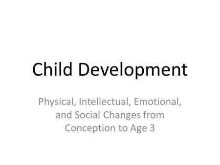 Social-Emotional Development Domain